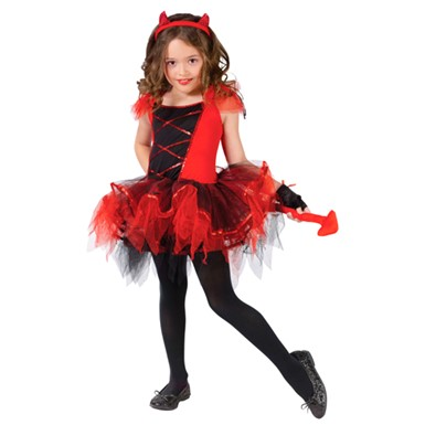 Girls Devil Tutu Costume