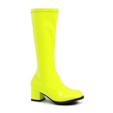 Girls Dora Neon Yellow Gogo Boots