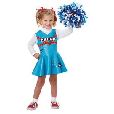 Girls Fancy Cheerleader Costume