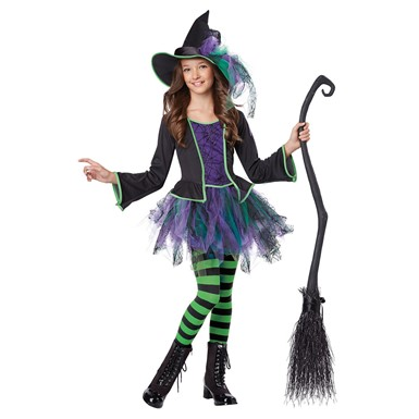 Girls Festive Witch Halloween Costume