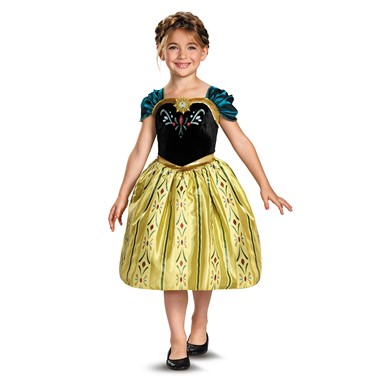 Girls Frozen Anna Coronation Gown Halloween Costume