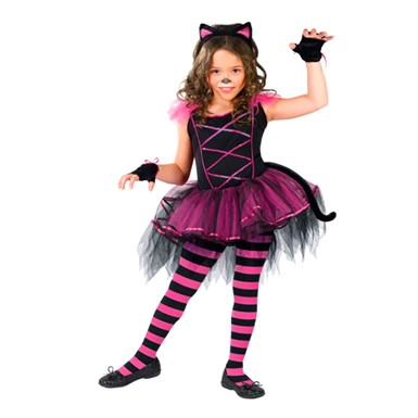 Girls Kitten Costume - Catarina