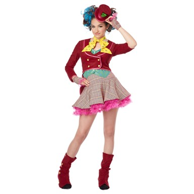 Tween Girls Mad As A Hatter Costume - Tween Halloween Costumes