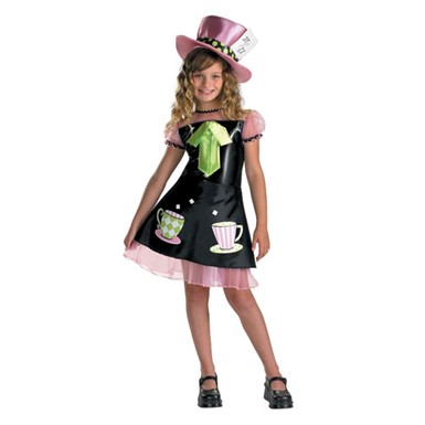 Girl's Mad Hatter Costume