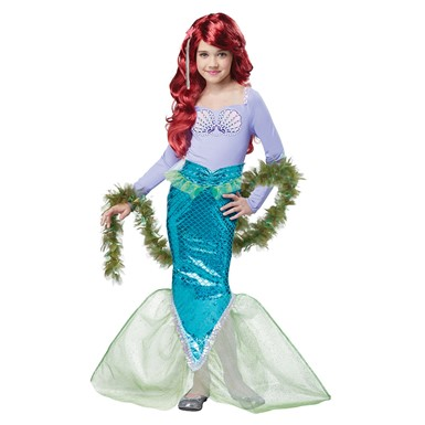 Girls Magical Mermaid Halloween Costume