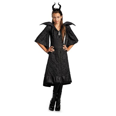 Girls Maleficent Christening Black Gown Costume