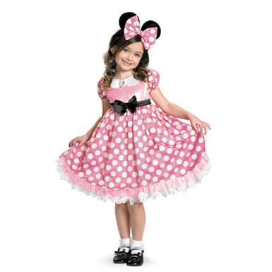 Girls Minnie Mouse Glowing Costume