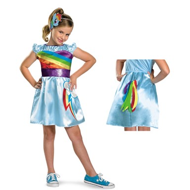 Girls My Little Pony Rainbow Dash Costume