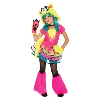 Girls Party Cat Halloween Costume