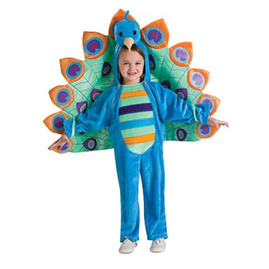 Girls Peacock Toddler Bird Halloween Costume