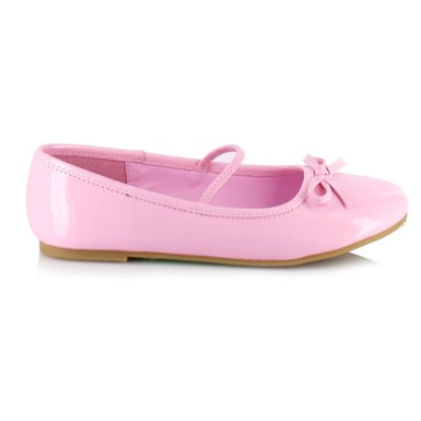 Girls Pink Patent Ballet Shoes