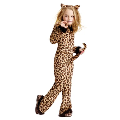 Girls Pretty Leopard Kitten Cat Halloween Costume