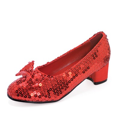 Girls Red Sequin Shoes - Judy