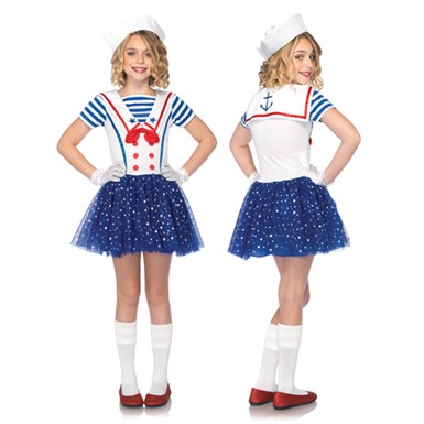 Girls Sailor Sweetie Costume