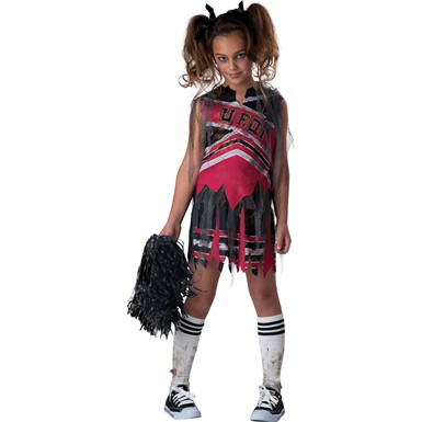 Girls Undead Cheerleader Costume