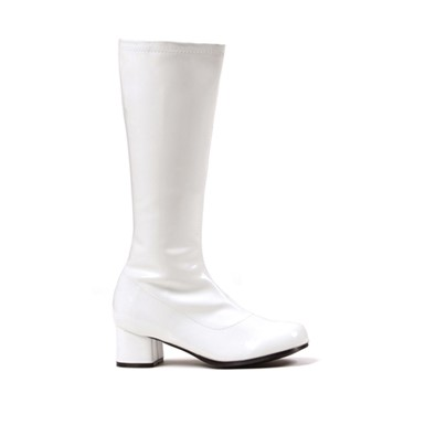 Girls White Go Go Boots - Dora