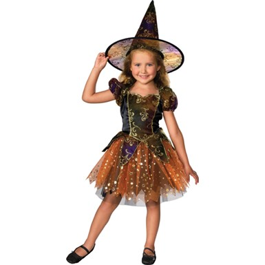 Girl's Witch Halloween Costume - Elegant Witch