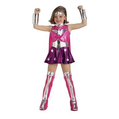 Girl's Wonder Woman Costume - Pink