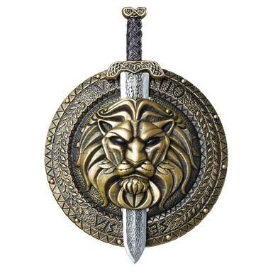 Gladiator Combat Sword And Shield Costume Accessory