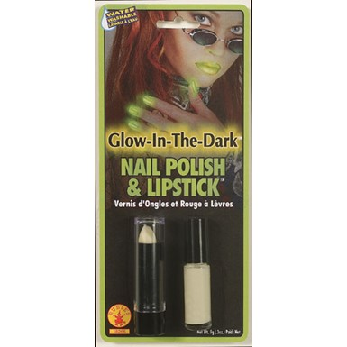Glow in the Dark Lipstick and Nail Polish