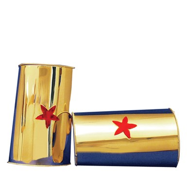 Gold Red Star Cuffs