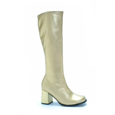 Gold Womens Knee High Go Go Boots