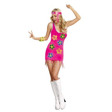 Groovy 60's Flower Costume- Womens