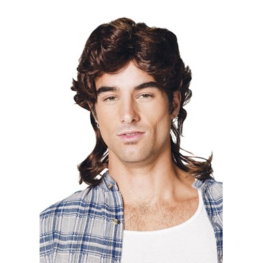 Hillbilly Mullet Wig - Brown