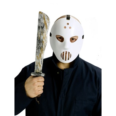 Hockey Mask And Machete Slasher Monster Accessory Set