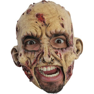 Horror Chinless Zombie Adult Costume Mask