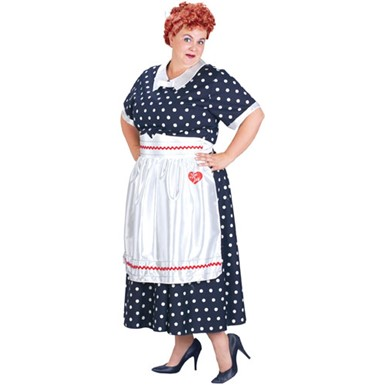 I Love Lucy Polka Dot Dress Plus Size Costume 18-22