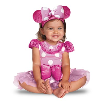 Infant Girls Pink Minnie Mouse Costume