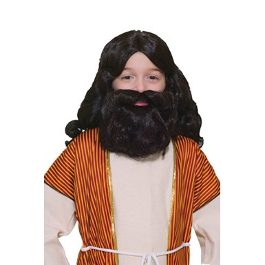 Kids Beard Costume - Black Biblical
