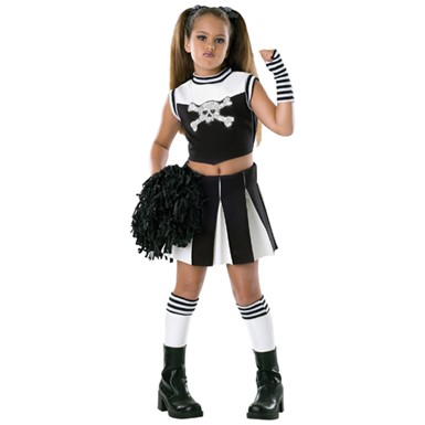 Kids Gothic Cheerleader Costume - Bad Spirit