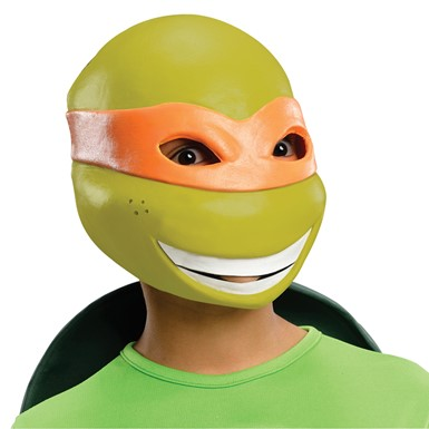 Kids Michelangelo Vinyl Mask Costume Accessory