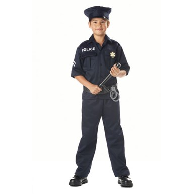 Kids Police Man Costume - Police Officer