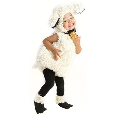 Kids White Lamb Jumpsuit Fuzzy Halloween Costume