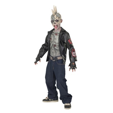 Kid's Zombie Costume - Punk Rocker Zombie