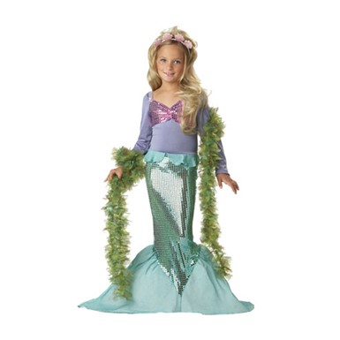 Little Mermaid Sequins Kids Halloween Costume
