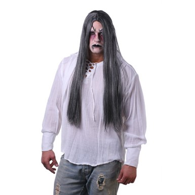 Long Parted Grey  Wig