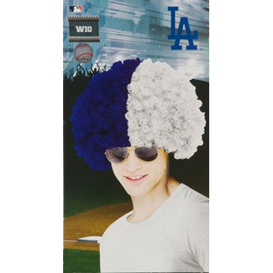 Los Angeles Dodgers Wig Baseball Halloween Accessory