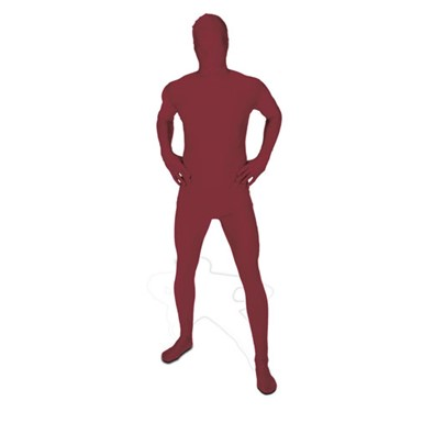 Maroon Skintight Bodysuit - Morphsuits