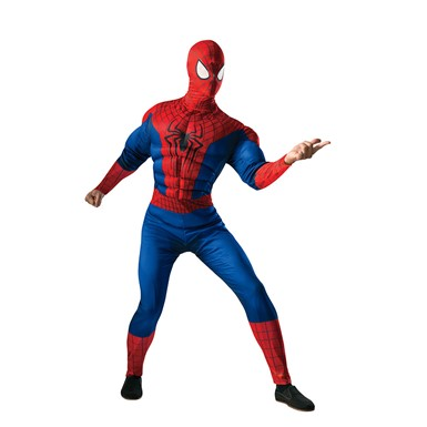Mens Amazing Spider-Man Muscle Costume