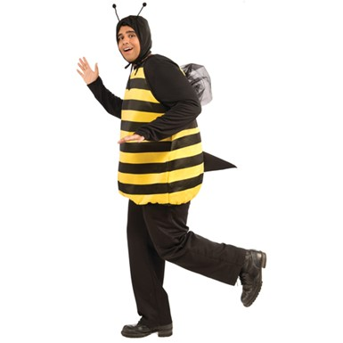 Mens Bumble Bee Halloween Costume Size XL