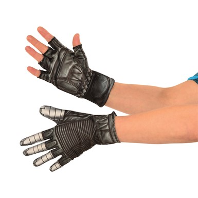 Mens Captain America Winter Soldier Costume Gloves