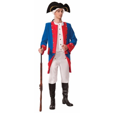 Mens Deluxe Colonial General Costume Size Standard