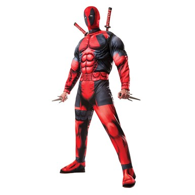 Mens Deluxe Deadpool Marvel Halloween Costume