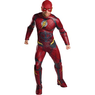 Mens Deluxe Flash Justice League Costume
