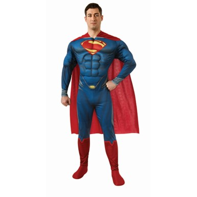 Mens Deluxe Superman Halloween Costume
