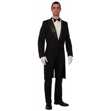 Mens Formal Tuxedo With Tail Coat Costume